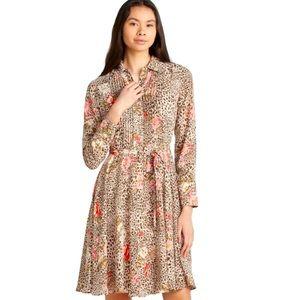 Nanette Lapore Cheetah/Floral Print Dress